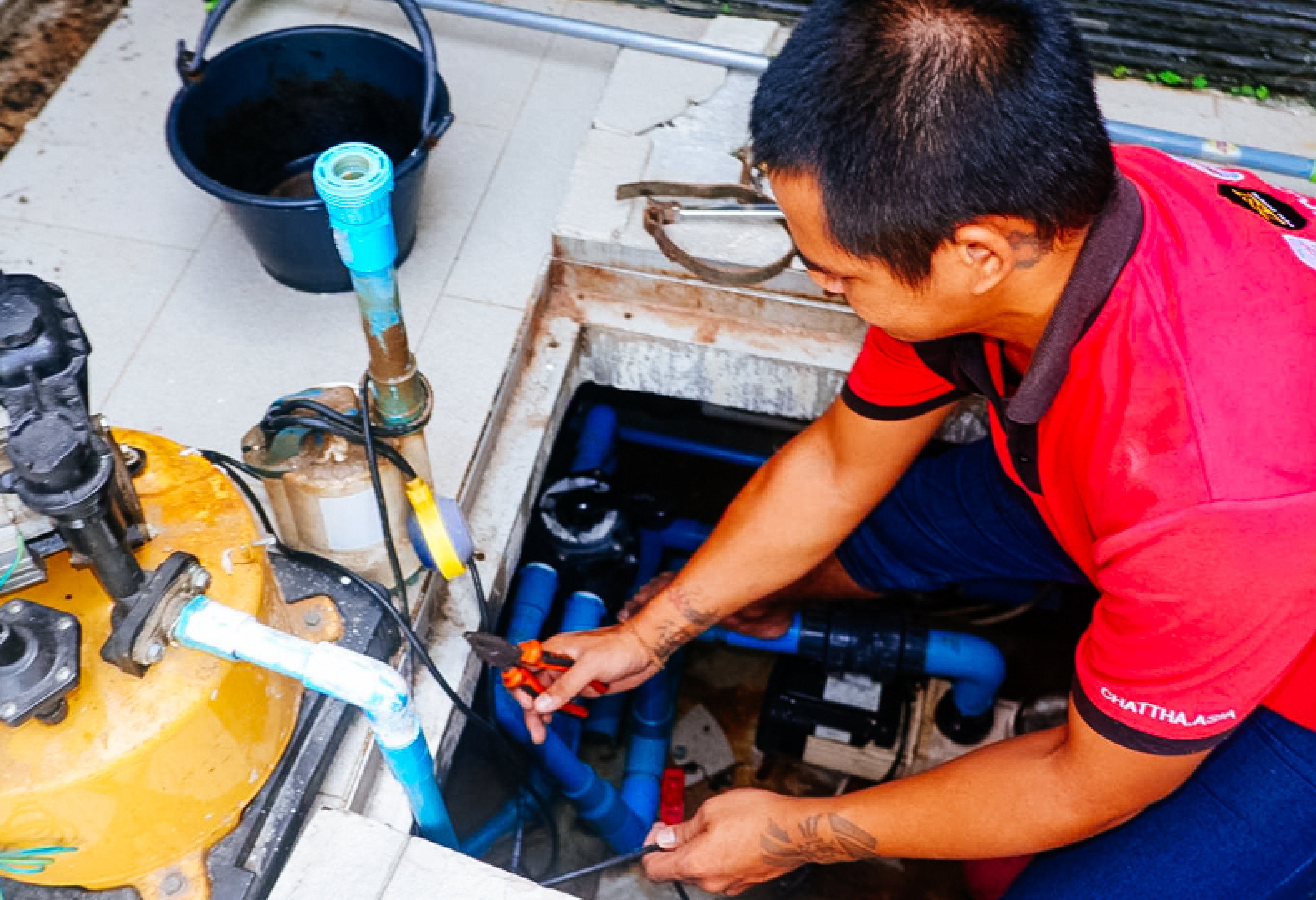 Chattha Property Management Phuket - Houskeeping gardening pool cleaning technicial
